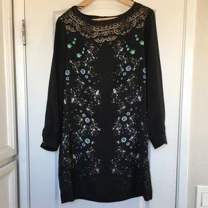 Zara jewelry dress with lace back